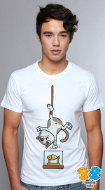 Clapping Cats cool graphic T shirts for men Tabbilicious 03 white 04