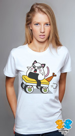 Clapping Cats cool graphic tees for women Carbicats 02 white 02