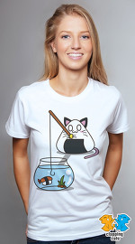 Clapping Cats cool graphic tees for women Carbicats 04 white 02