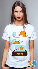 Clapping Cats cool graphic tees for women Fat Cat 02 white 04