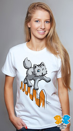 Clapping Cats cool graphic tees for women Graybles 01 white 02