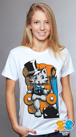 Clapping Cats cool graphic tees for women Graybles 03 white 02