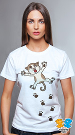 Clapping Cats cool graphic tees for women Tabbilicious 04 white 04