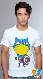 Clapping Cats cute graphic T shirts for men Super Hero Cats 02
