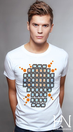 Hunkalicious cool graphic tees for men Byte Sized 03 white 01