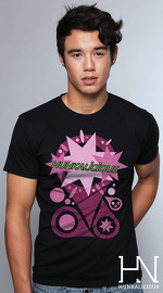 Hunkalicious cool graphic tees for men Byte Sized 05 black 04