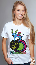 MooTees cool graphic T shirts for women Menagerie 04 white 02