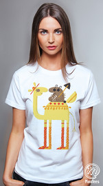 MooTees cool graphic T shirts for women Odd Couples 01 white 04
