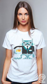 MooTees cool graphic T shirts for women Odd Couples 02 white 04