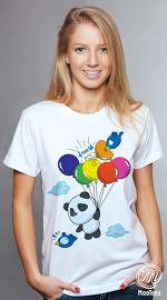 MooTees cool graphic T shirts for women Panda Rama 03 white 04