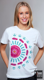 MooTees cool graphic T shirts for women Revolution 01 white 03
