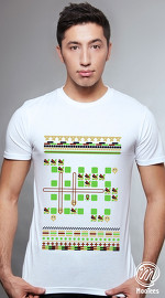 MooTees cool graphic tees for men Arcade 01 white 01