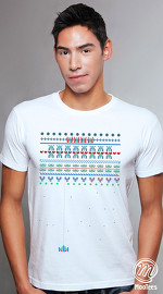 MooTees cool graphic tees for men Arcade 02 white 01