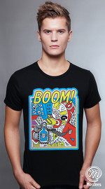 MooTees cool graphic tees for men ArtPop 01 black 01