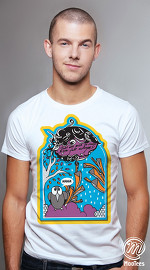 MooTees cool graphic tees for men ArtPop 02 white 05