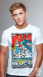MooTees cool graphic tees for men ArtPop 03 white 02
