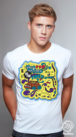 MooTees cool graphic tees for men ArtPop 05 white 02