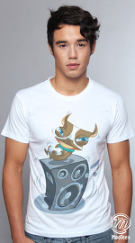 MooTees cool graphic tees for men Boston T 01 white