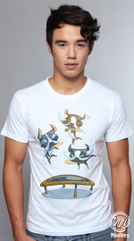 MooTees cool graphic tees for men Boston T 02 white