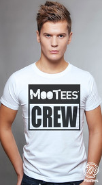 MooTees cool graphic tees for men Brand Basic 05 white 01