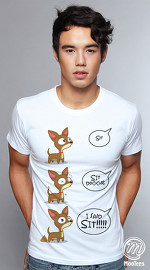 MooTees cool graphic tees for men Chiwawa 04 white