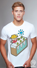 MooTees cool graphic tees for men Cuboids 02 white 02