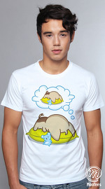 MooTees cool graphic tees for men Droopy Days 01 white 04