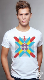 MooTees cool graphic tees for men Ethnical 02 white 01