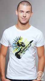 MooTees cool graphic tees for men Evolution 03 white 01