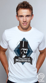 MooTees cool graphic tees for men Evolution 05 white 01