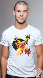MooTees cool graphic tees for men Fearless 01 white 01