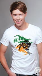 MooTees cool graphic tees for men Fearless 03 white 01