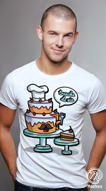 MooTees cool graphic tees for men Food Talk 05 white 05