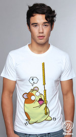 MooTees cool graphic tees for men Life Of Ham 03 white 04