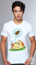 MooTees cool graphic tees for men Life Of Ham 05 white 04