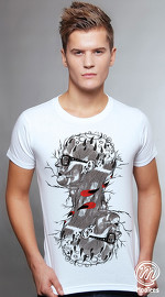 MooTees cool graphic tees for men Macabre 01 white 01