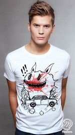MooTees cool graphic tees for men Macabre 03 white 01