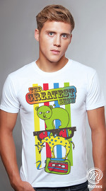 MooTees cool graphic tees for men Menagerie 01 white 02