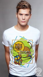 MooTees cool graphic tees for men Menagerie 02 white 01