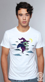 MooTees cool graphic tees for men Modern Horror 02 white