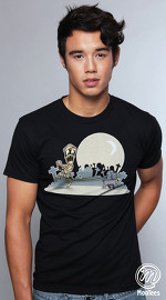 MooTees cool graphic tees for men Modern Horror 05 black