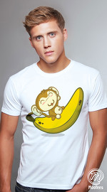 MooTees cool graphic tees for men Monkey Business 01 white