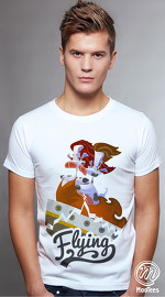 MooTees cool graphic tees for men Moomics 01 white 01