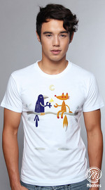 MooTees cool graphic tees for men Odd Couples 04 white 04
