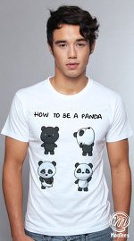 MooTees cool graphic tees for men Panda Rama 04 white 04