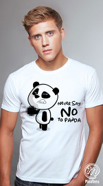 MooTees cool graphic tees for men Panda Rama 06 white