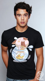 MooTees cool graphic tees for men Pet Problem 03 black