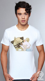 MooTees cool graphic tees for men Pet Problem 05 white