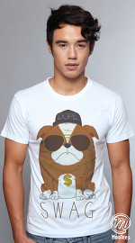 MooTees cool graphic tees for men Pet Prose 04 white