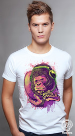 MooTees cool graphic tees for men Primal Beats 01 white 01